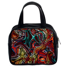 Abstract Art Stained Glass Classic Handbag (two Sides)