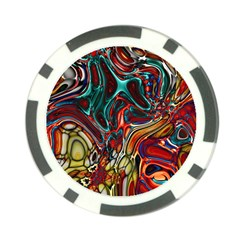 Abstract Art Stained Glass Poker Chip Card Guard (10 Pack)