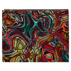 Abstract Art Stained Glass Cosmetic Bag (xxxl) by Jojostore