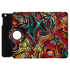 Abstract Art Stained Glass Apple Ipad Mini Flip 360 Case