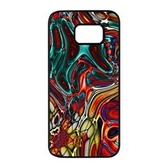 Abstract Art Stained Glass Samsung Galaxy S7 Edge Black Seamless Case by Jojostore