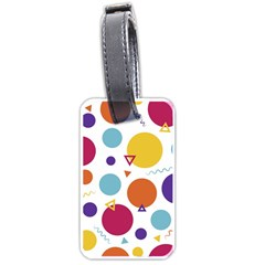 Background Polka Dot Luggage Tags (one Side)  by Jojostore