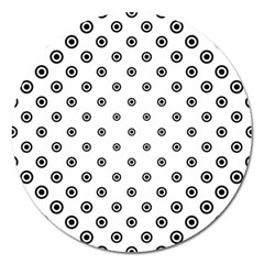 Circle Dot Pattern Dotted Magnet 5  (round)