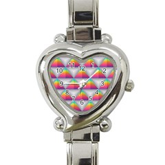 Colorful Triangle Heart Italian Charm Watch by AnjaniArt