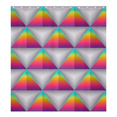 Colorful Triangle Shower Curtain 66  X 72  (large)
