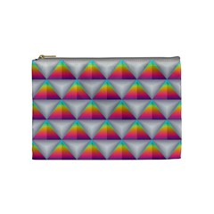 Colorful Triangle Cosmetic Bag (medium)