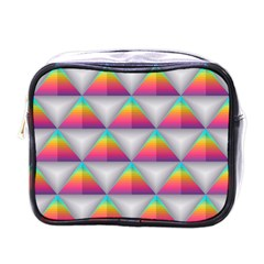 Colorful Triangle Mini Toiletries Bag (one Side)