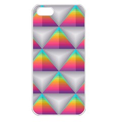 Colorful Triangle Apple Iphone 5 Seamless Case (white) by AnjaniArt