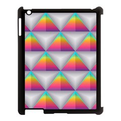 Colorful Triangle Apple Ipad 3/4 Case (black) by AnjaniArt
