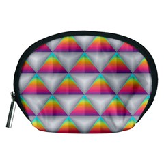 Colorful Triangle Accessory Pouch (medium)