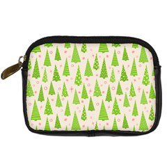 Christmas Green Tree Digital Camera Leather Case by AnjaniArt