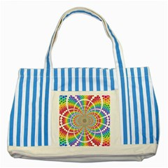 Color Background Structure Lines Rainbow Striped Blue Tote Bag