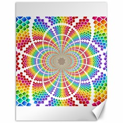 Color Background Structure Lines Rainbow Canvas 12  X 16