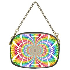Color Background Structure Lines Rainbow Chain Purse (two Sides)