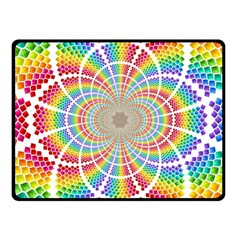 Color Background Structure Lines Rainbow Fleece Blanket (small) by AnjaniArt