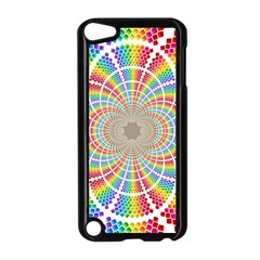 Color Background Structure Lines Rainbow Apple Ipod Touch 5 Case (black) by AnjaniArt