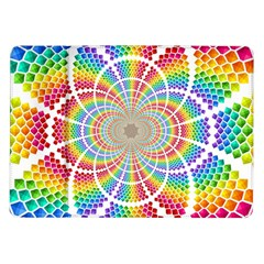 Color Background Structure Lines Rainbow Samsung Galaxy Tab 10 1  P7500 Flip Case by AnjaniArt