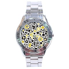 Black Versus Ceylon Yellow  Stainless Steel Analogue Watch