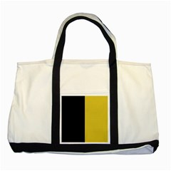 Black   Ceylon Yellow Two Tone Tote Bag