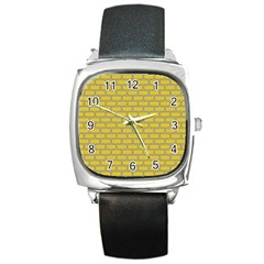 Brick Wall  Square Metal Watch by TimelessFashion
