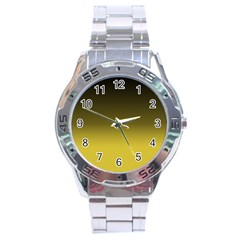 Ceylon Yellow To Black Stainless Steel Analogue Watch
