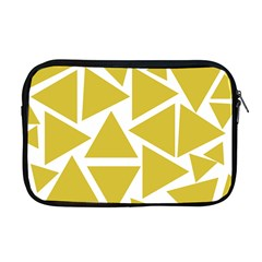 Ceylon Yellow Triangles Apple Macbook Pro 17  Zipper Case by TimelessFashion