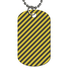 Diagonal Stripes    Dog Tag (two Sides)