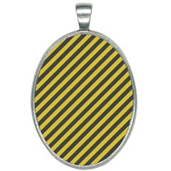 Diagonal Stripes    Oval Necklace by TimelessFashion