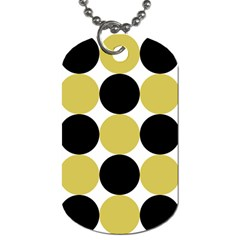 Dots Effect  Dog Tag (one Side)