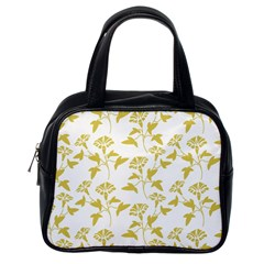 Floral In Ceylon Yellow Classic Handbag (one Side) by TimelessFashion