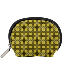 Grid Of Elegance  Accessory Pouch (small)