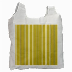 Nice Stripes In Ceylon Yellow And White Recycle Bag (one Side) by TimelessFashion