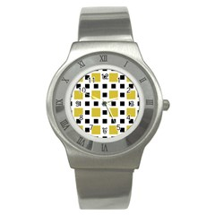 Squares On A Mission Stainless Steel Watch