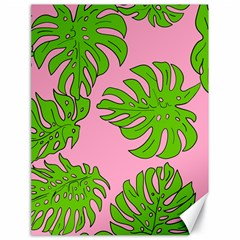 Leaves Tropical Plant Green Garden Canvas 18  X 24