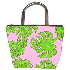 Leaves Tropical Plant Green Garden Bucket Bag by Alisyart