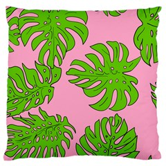 Leaves Tropical Plant Green Garden Large Cushion Case (two Sides)