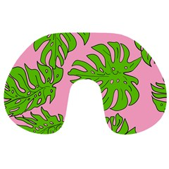 Leaves Tropical Plant Green Garden Travel Neck Pillows