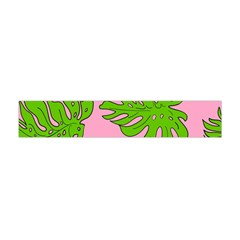 Leaves Tropical Plant Green Garden Flano Scarf (mini)