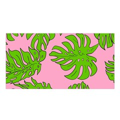 Leaves Tropical Plant Green Garden Satin Shawl