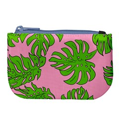 Leaves Tropical Plant Green Garden Large Coin Purse by Alisyart