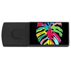 Leaf Tropical Colors Nature Leaves Rectangular Usb Flash Drive by Alisyart