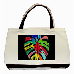 Leaf Tropical Colors Nature Leaves Basic Tote Bag (two Sides) by Alisyart