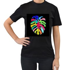 Leaf Tropical Colors Nature Leaves Women s T Shirt (black)