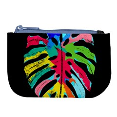 Leaf Tropical Colors Nature Leaves Large Coin Purse