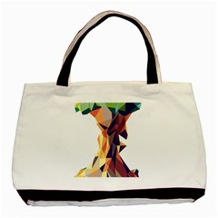 Illustrator Geometric Apple Basic Tote Bag