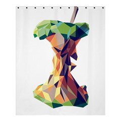 Illustrator Geometric Apple Shower Curtain 60  X 72  (medium)