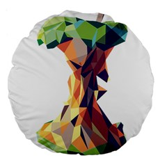 Illustrator Geometric Apple Large 18  Premium Flano Round Cushions