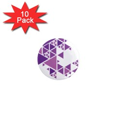 Art Purple Triangle 1  Mini Magnet (10 Pack)  by Mariart