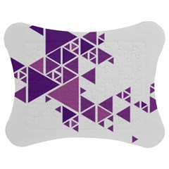 Art Purple Triangle Jigsaw Puzzle Photo Stand (bow) by Mariart