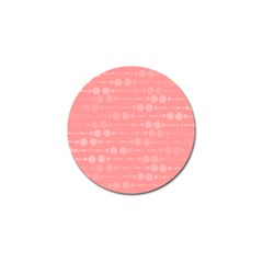 Background Polka Dots Pink Golf Ball Marker